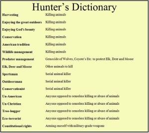 Hunters Dictionary