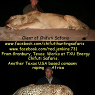 https://www.facebook.com/ted.jenkins.731 Chifuti Safaris (Page open for comments): https://www.facebook.com/chifutihuntingsafaris