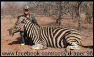 Takes a real tough guy to kill a Zebra https://www.facebook.com/cody.draper.96