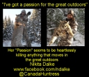 https://www.facebook.com/ndalke  @canadahuntress
